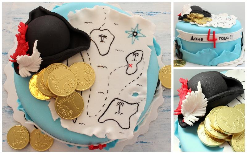 детские торты пираты фото